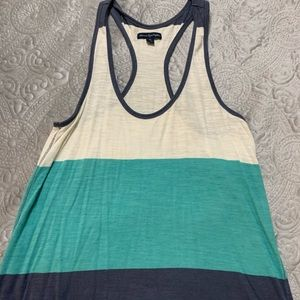 AE colorblock blue racerback tank top